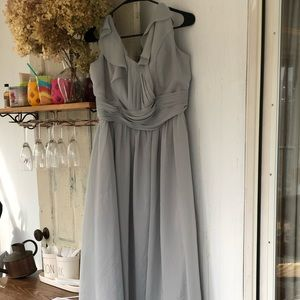 Gray formal dress